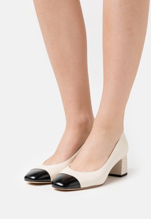 Klassiske pumps - ivory/black