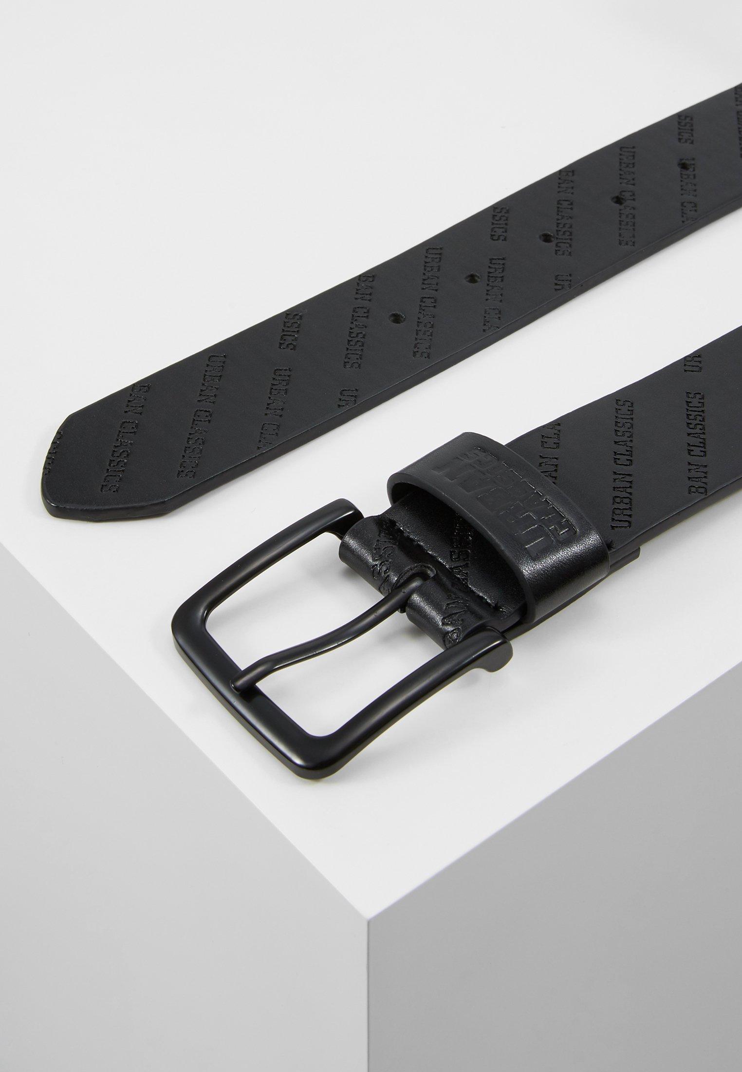 Urban Classics ALLOVER LOGO BELT - Belte - black/svart v3dLnAf2F5eHObI