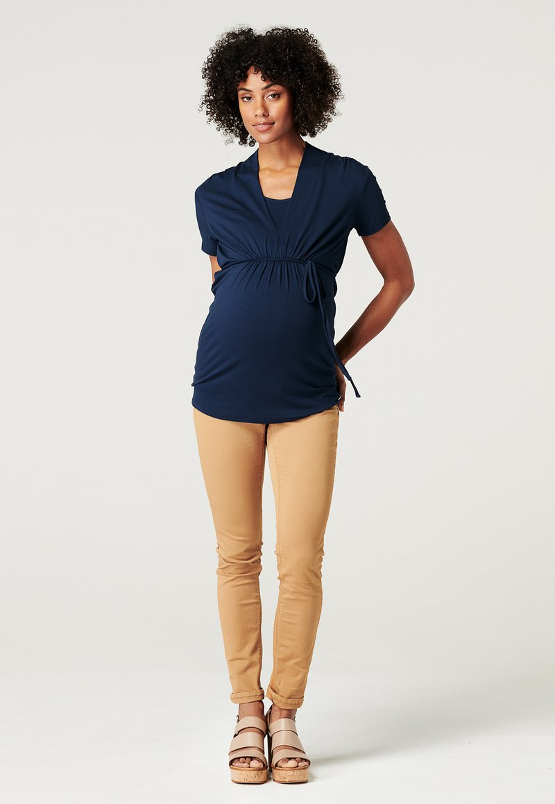 Esprit Maternity - NURSING - Print T-shirt - night blue