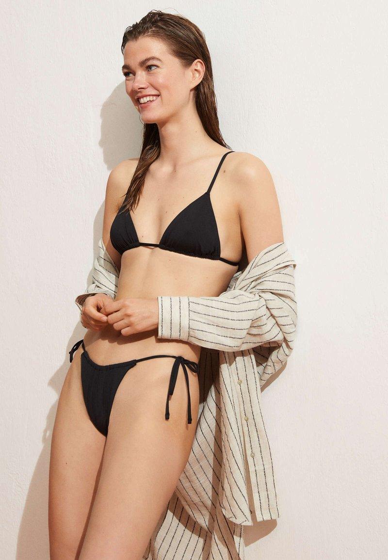 OYSHO - BRAZILIAN SLIDE - Bikini bottoms - black