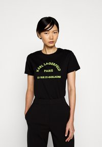 KARL LAGERFELD - ADDRESS LOGO - T-shirt imprimé - black - 0