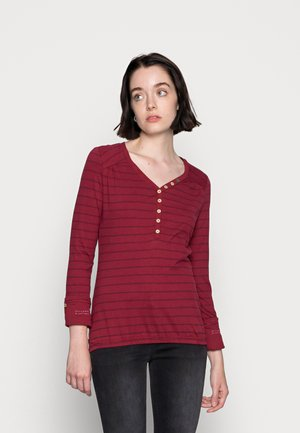 PINCH ORGANIC - Long sleeved top - wine red