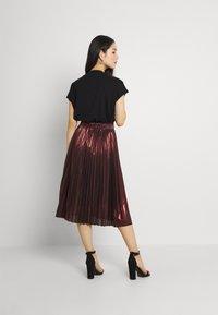 Molly Bracken - LADIES WOVEN SKIRT - A-line skirt - dark red - 2