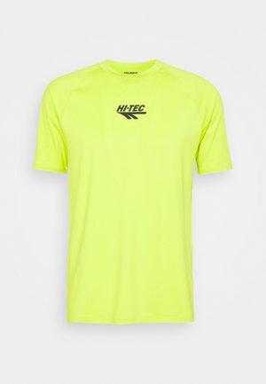 THOMAS BASIC LOGO TEE - Camiseta estampada - lime punch