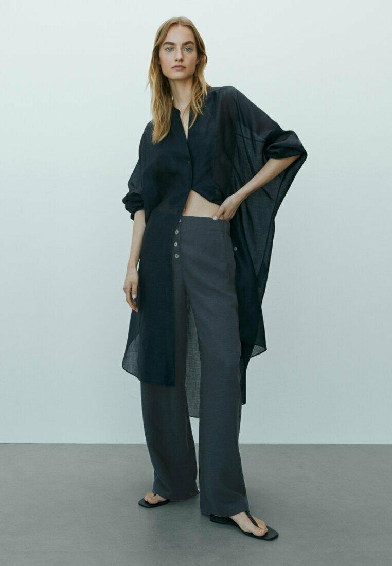Massimo Dutti - Trousers - dark blue