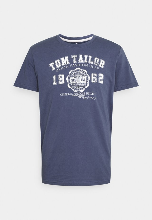 LOGO TEE - Print T-shirt - light indigo blue