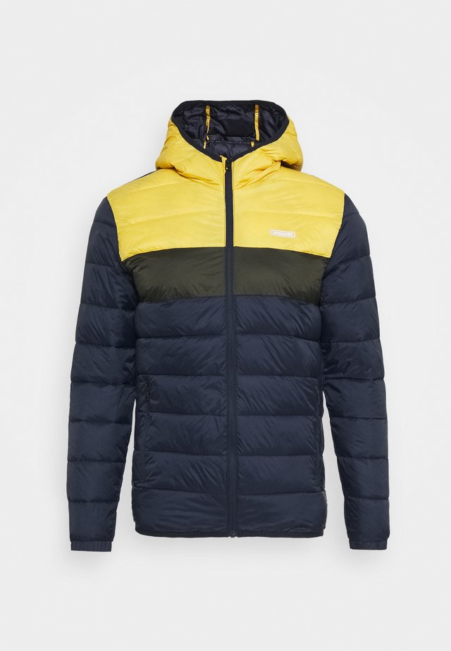 JJVINCENT PUFFER HOOD - Giacca invernale - yolk yellow