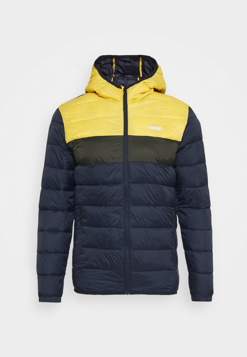 Jack & Jones - JJVINCENT PUFFER HOOD - Winter jacket - yolk yellow