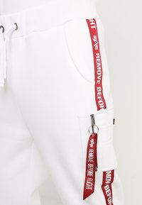Alpha Industries - JOGGER TAPE - Tracksuit bottoms - white - 4