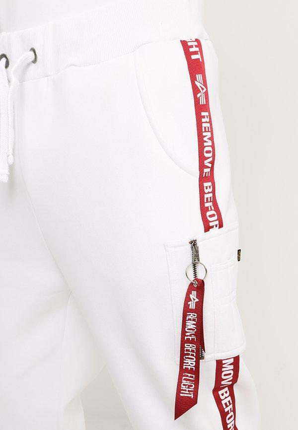 Alpha Industries JOGGER TAPE - Spodnie treningowe - white/biały Odzież Męska ZEJC