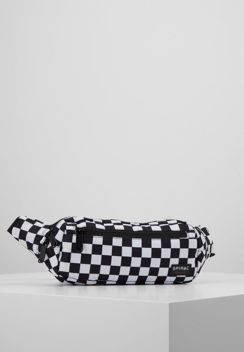 Spiral Bags - CROSSBODY - Ledvinka - black/white