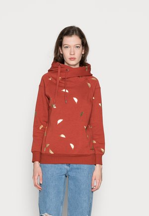 ONLJALENE HOOD - Jersey con capucha - chili oilgold feathers