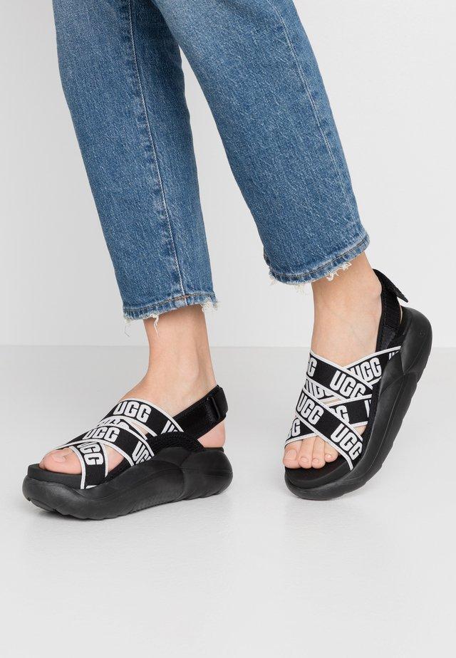 LA CLOUD  - Korkeakorkoiset sandaalit - black