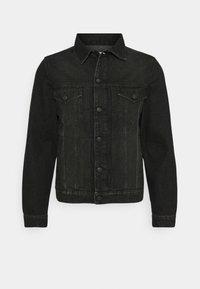 BASE DESTROY - Denim jacket - anthracite