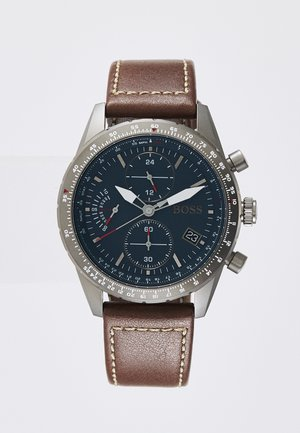 PILOT EDITION  - Chronograph watch - brown/blue