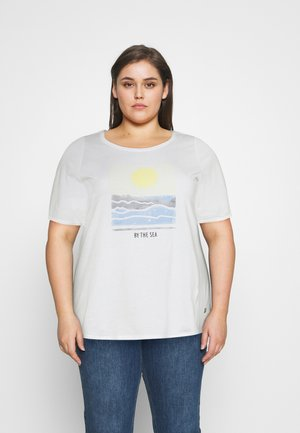 WITH SLEEVE DETAIL - Print T-shirt - whisper white