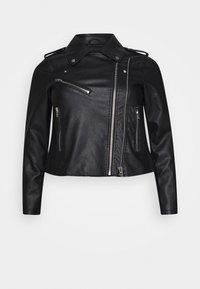 MEGAN JACKET - Faux leather jacket - black