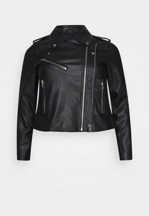 MEGAN JACKET - Faux leather jacket - black