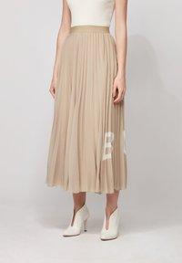 BOSS - TIPLISSEE - Maxi skirt - beige - 0