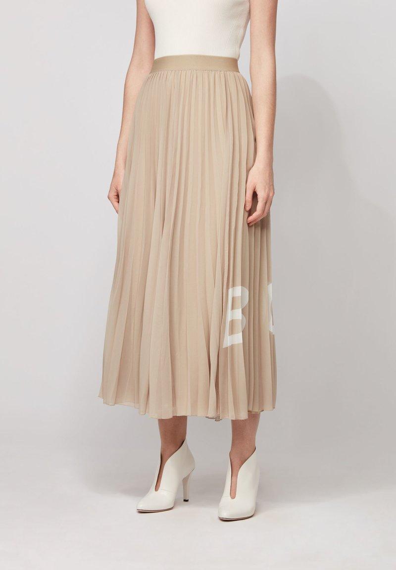 BOSS - TIPLISSEE - Maxi skirt - beige