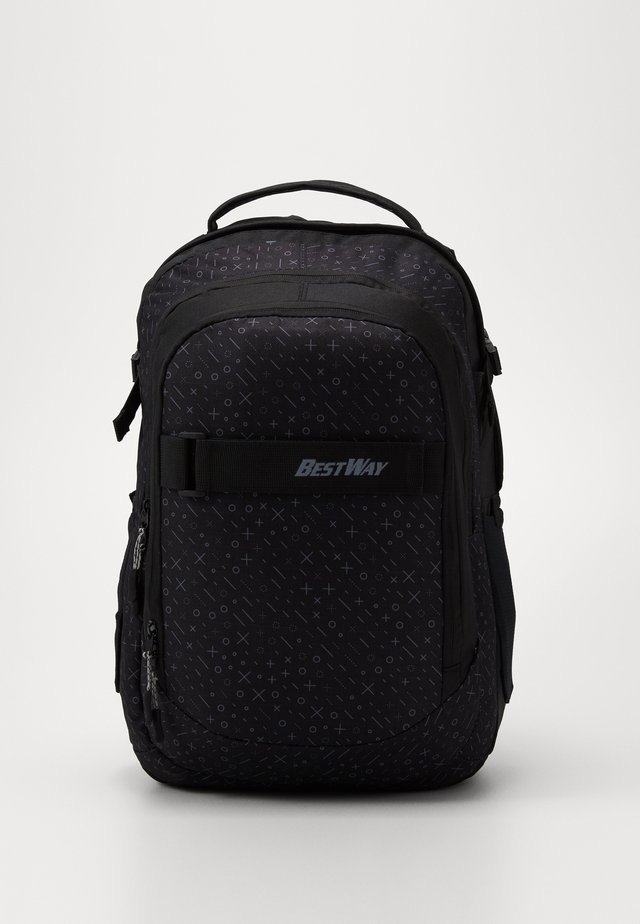 BEST WAY EVOLUTION - School bag - black/white