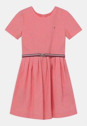 BOX PLEAT DRESS - Shirt dress - daring scarlet