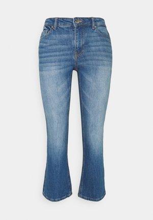 ONLKENYA LIFE MID CROP - Jeans bootcut - medium blue denim