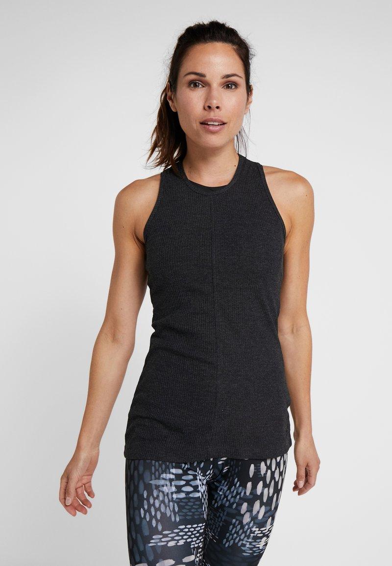 Reebok - TRAINING ESSENTIALS RIBBED TANKTOP - Sports shirt - black