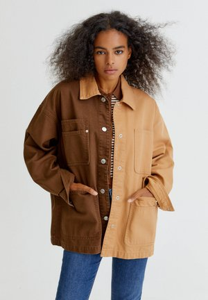 SAHARA - Denim jacket - light brown