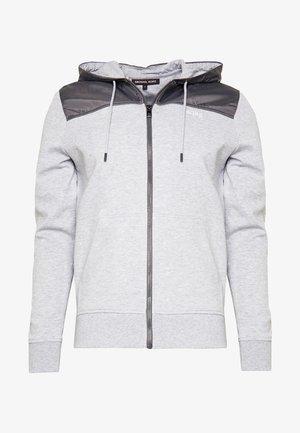 LOGO  - Mikina na zip - heather grey