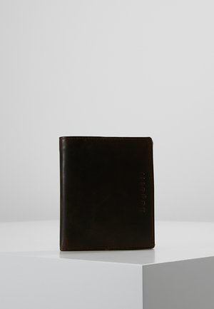 COIN WALLET WITH FLAP UPRIGHT - Portemonnee - brown