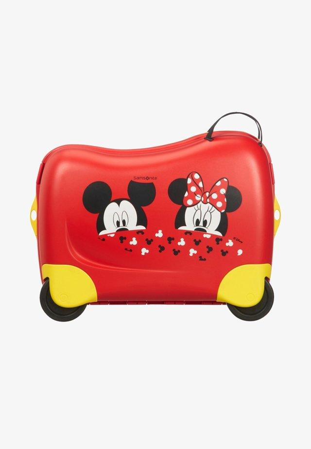 ZUM DRAUFSITZEN - Wheeled suitcase - light red
