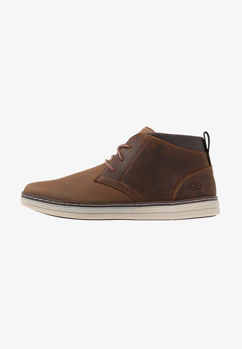 Skechers - HESTON - Sneaker high - dark brown