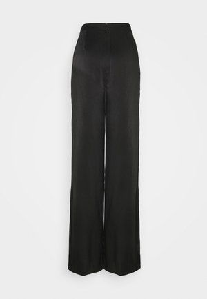 LADIES TROUSERS  - Bukse - black sateen