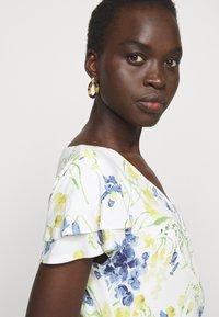 Lauren Ralph Lauren - PRINTED MATTE DRESS - Sukienka etui - cream/yellow - 4