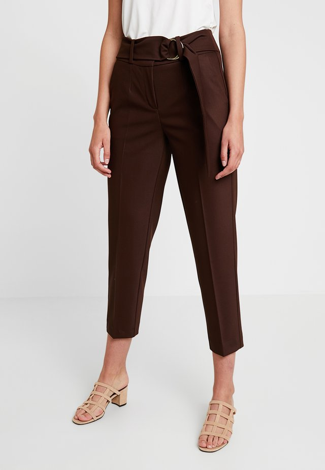 Spodnie materiałowe - dark chocolate
