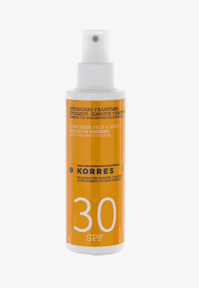 YOGHURT SONNENEMULSION FÜR GESICHT UND KÖRPER SPF30 150ML - Sun protection - -