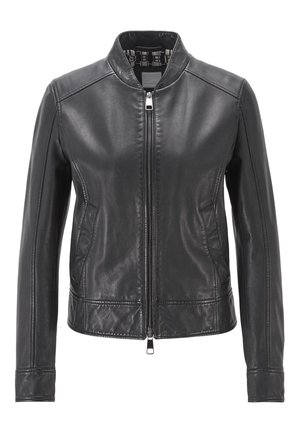 JAMEGGY - Leather jacket - black