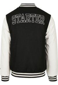 Starter - COLLEGE - Bomber Jacket - black/white - 3