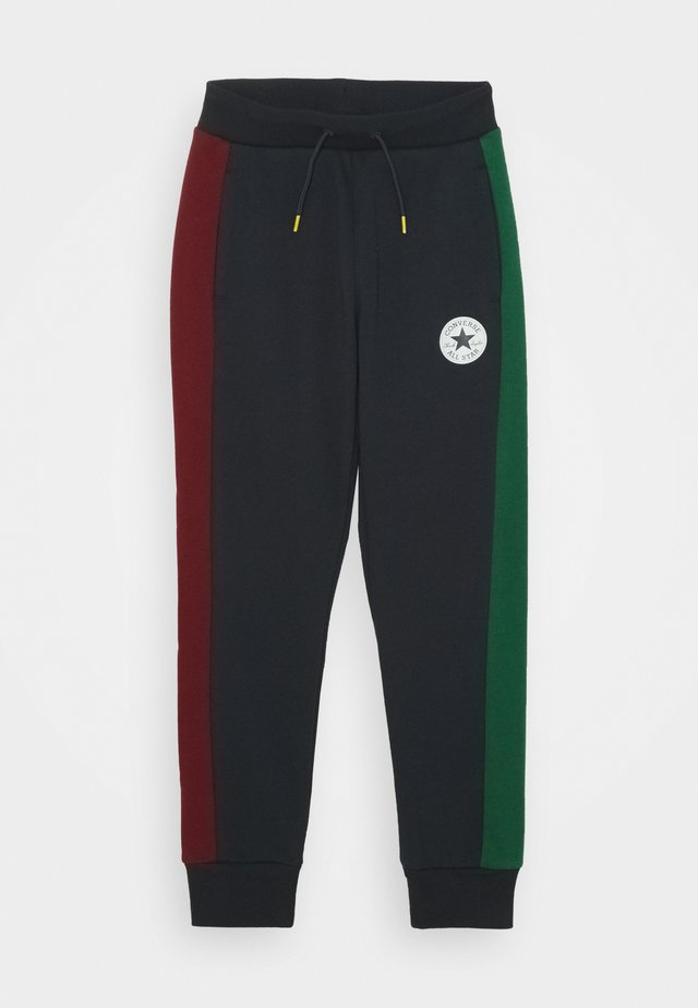 COLORBLOCK  - Tracksuit bottoms - obsidian