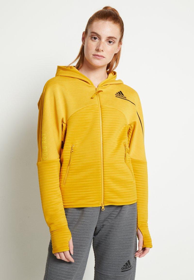 adidas Performance - W ZNE A H C.RDY - Sports jacket - leg gold