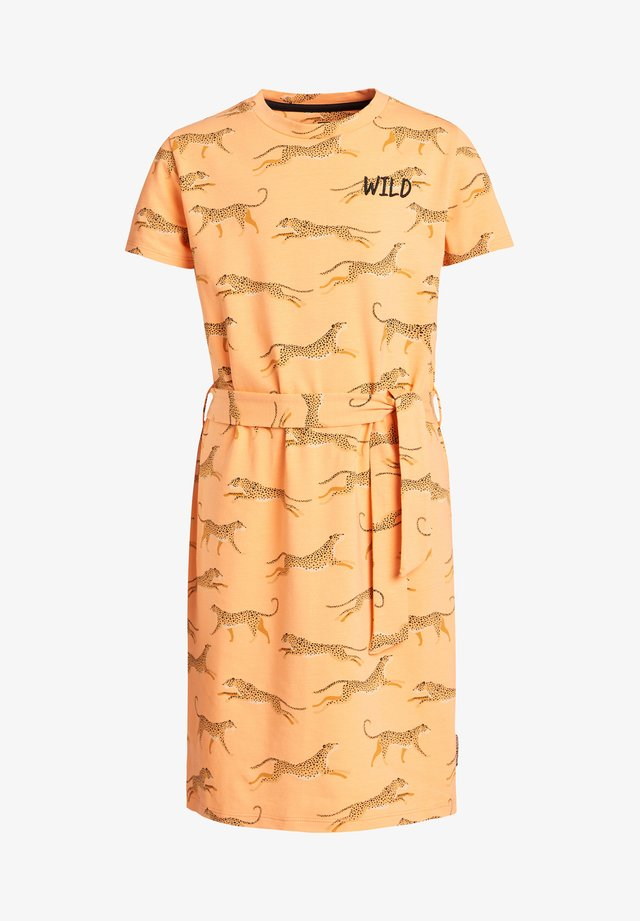 MET LUIPAARDPRINT - Jersey dress - ochre yellow