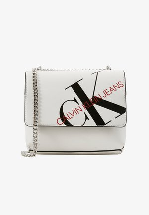 SQUARE FLAP XBODY - Across body bag - white