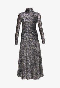 Victoria Victoria Beckham - PLEATED DRESS - Korte jurk - petrol blue/gold - 5