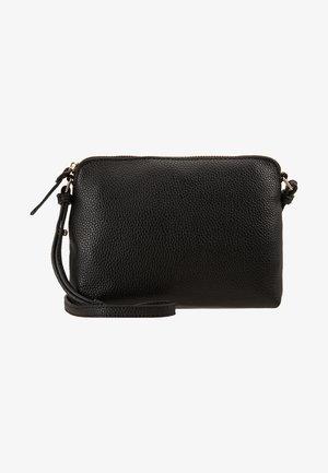 TAN ZIP TOP CROSS BODY - Across body bag - black