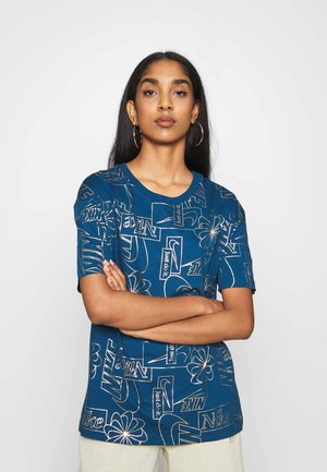 TEE ICON CLASH - Print T-shirt - valerian blue