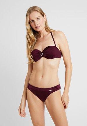 WIRE BANDEAU SET - Bikini - bordeaux
