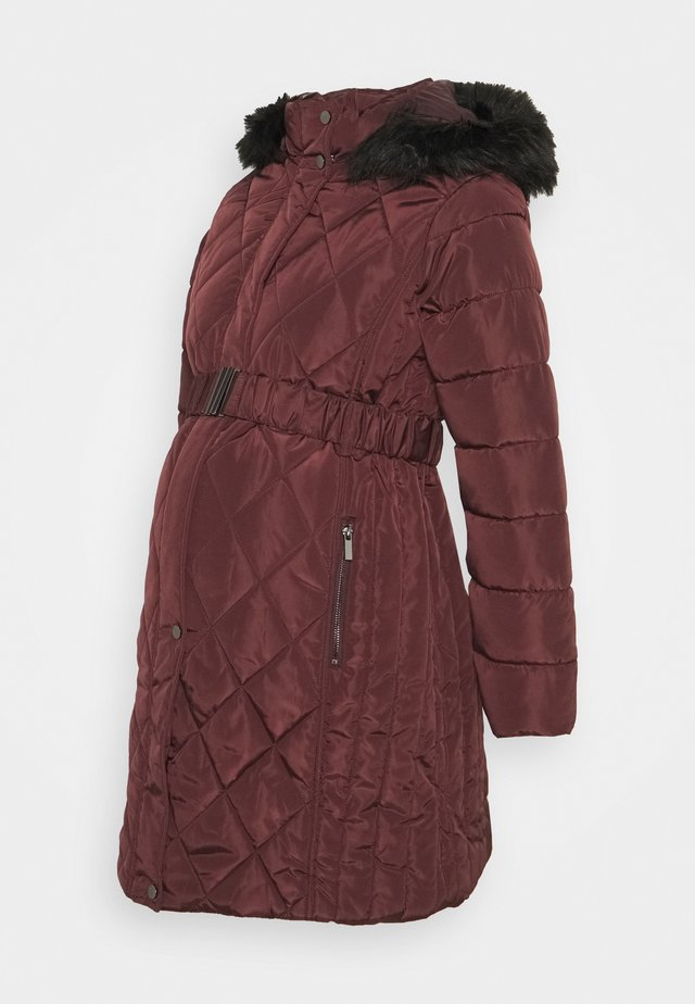 QUILT LONG LUXE BELTED COAT - Vinterfrakker - red