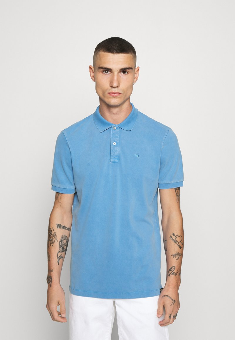 Scotch & Soda - GARMENT DYED STRETCH  - Polo shirt - infinite blue