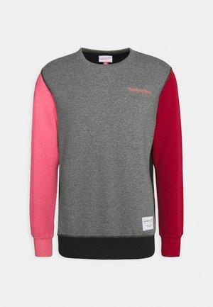 COLORBLOCKED CREW - Sweatshirt - grey heather